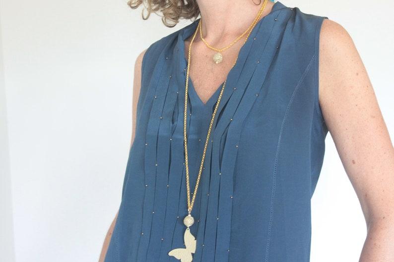 Butterfly Pendant Gift For Women Gold Butterfly Necklace Long Butterfly Necklace Butterfly Necklace Gold BUTTERFLY NECKLACE
