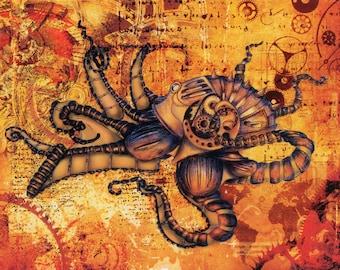 Mechanical Octopus Print