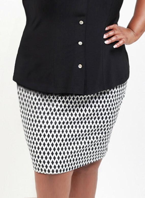 a413a7c70e0 Chrissa Plus Size Pencil Skirt Curvy Cotton Summer Skirt in