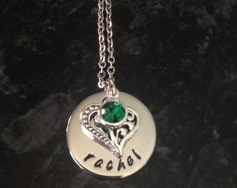 Hand Stamped Personalised Name Necklace
