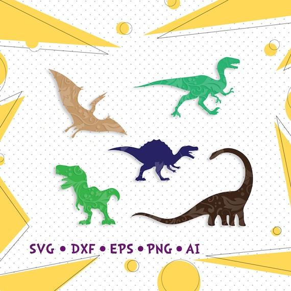 Dinosaur Svg T Rex Svg File For Cricut Dinosaur Silhouette Etsy