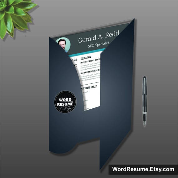 Creative CV Template + Cover Letter, Curriculum Vitae, Professional Resume  Template Design, Lebenslauf, Instant Download, Teacher Resume, CV