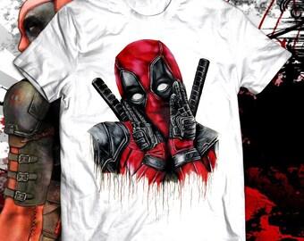 7e1003a2 Deadpool T-Shirt - deadpool shirt - Marvel Deadpool t shirt - Deadpool  party shirt - Deadpool tee - Superheroes gift