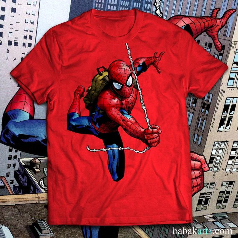 5f62e215 Spider-Man T-Shirt Spiderman Shirt Gift for Men Women & Kids | Etsy