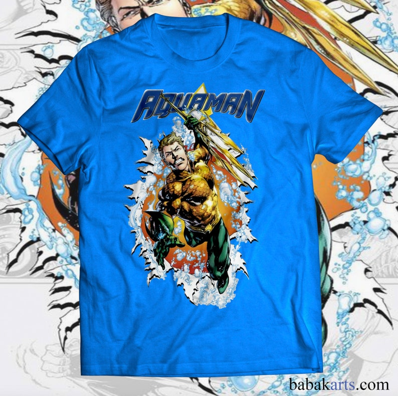 ce9cbdd0c9c39 Aquaman T-Shirt - Marvel gifts - Superhero shirts - Superhero Birthday  Shirt - Aqua man comics t shirts - Aquaman costume, Aquaman clothes