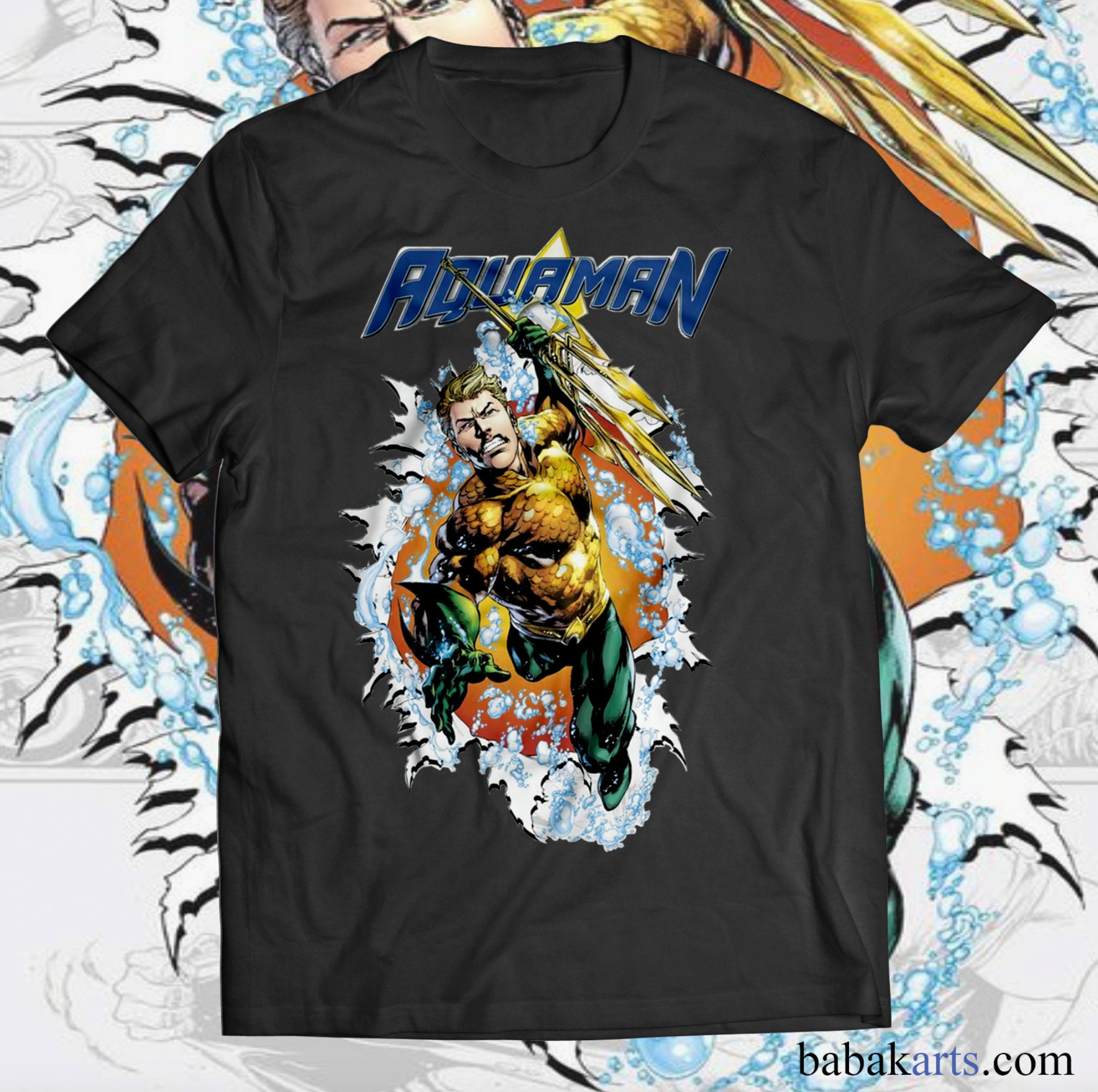 8ad54de9c1359 Aquaman T-Shirt - Marvel gifts - Superhero shirts - Superhero ...