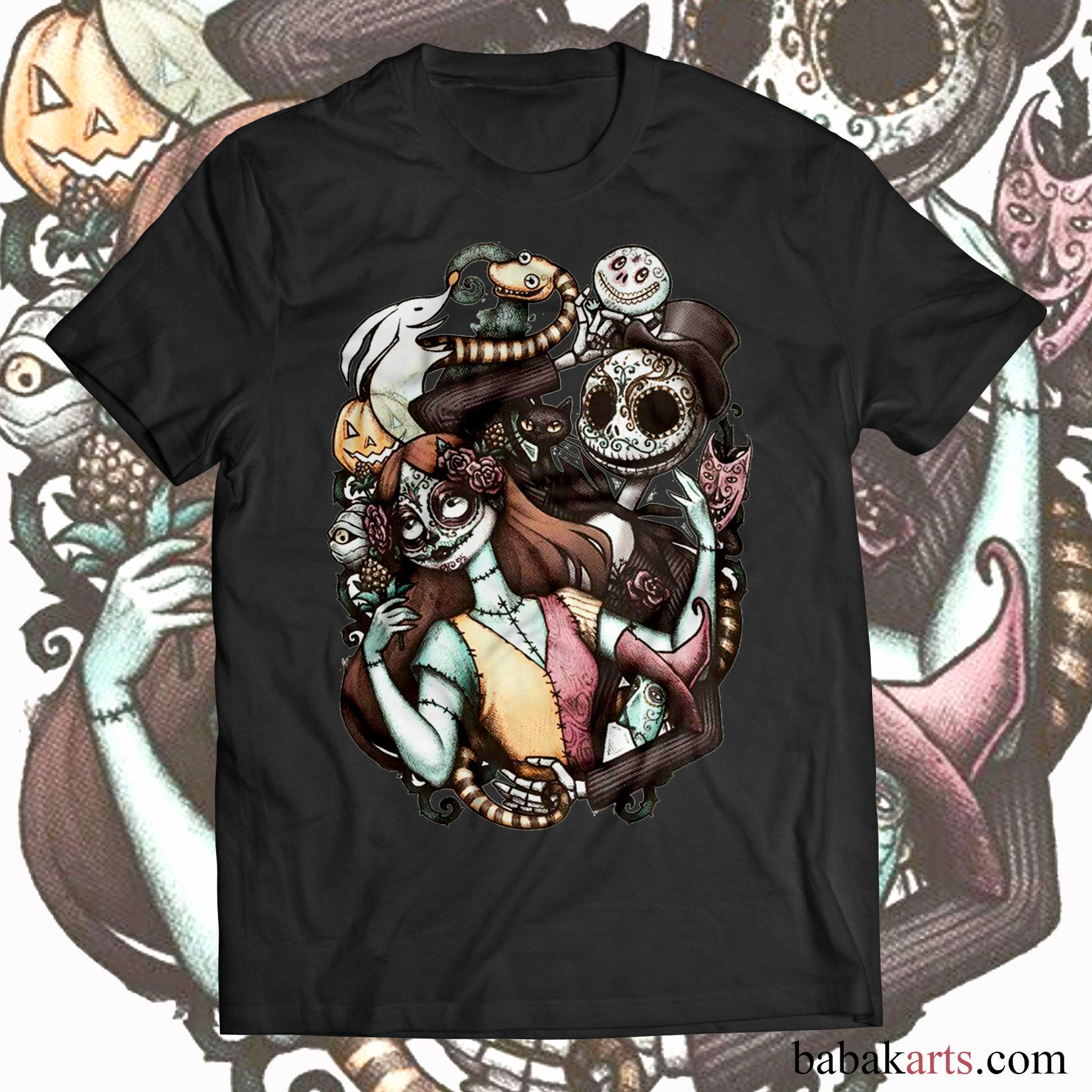 Halloween T-Shirt - Nightmare before Christmas - Jack Skellington ...