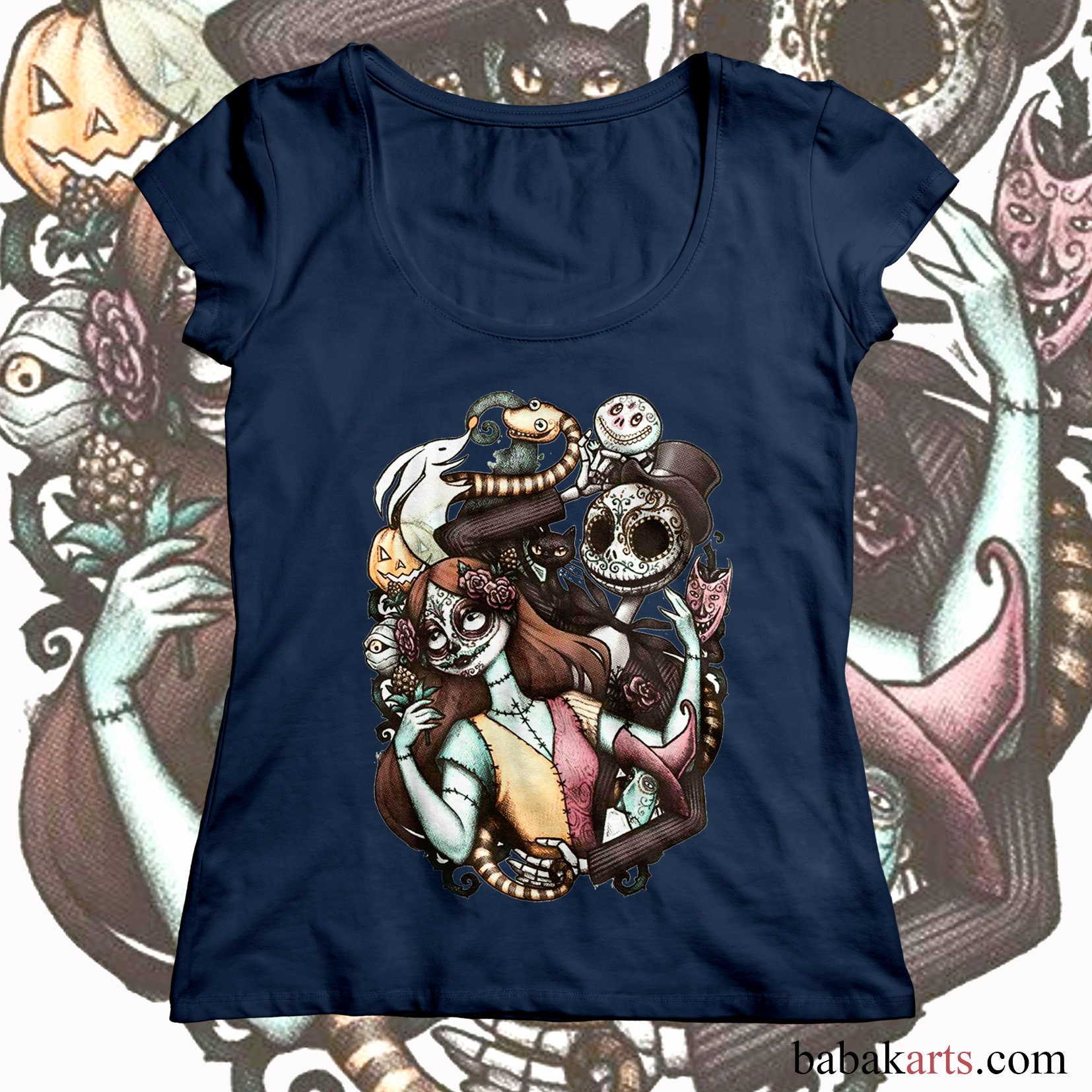 Halloween T-Shirt - Nightmare before Christmas - Jack Skellington ...