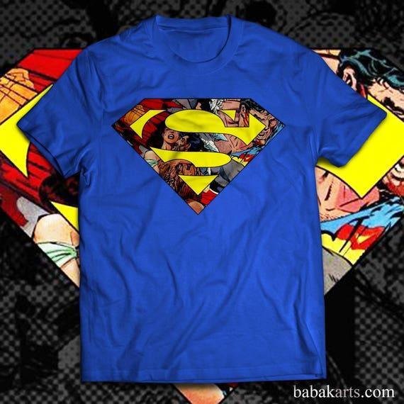 Superman Logo T Shirt Superman Marvel Logo Shirt Superman Etsy