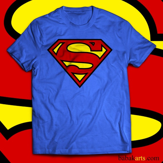 Superman Logo T Shirt Superman Original Logo Shirt Superman Etsy