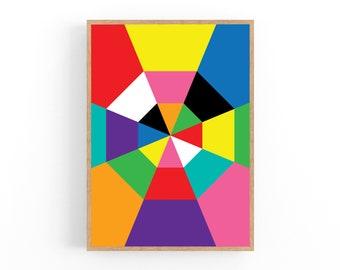 Octagon Pattern,Digital Paper for Scrapbooking Gift Boxes Octagon Rainbow Octagon Digital Paper Pastel Colors Papercrafts Cardmaking