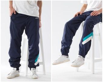 bf0ee7510 90s Vintage Mens ADIDAS ORIGINALS Training Tracksuit Joggers Pants Blue  Size L
