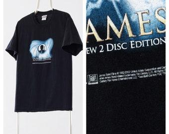 5a14ceb59 Vintage JAMES BOND Graphic Tee TV Promo Cinema Black T Shirt Size S