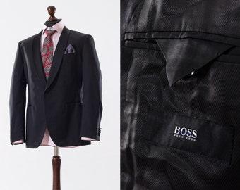 10bf8f401 Mens HUGO BOSS Super 100 Wool One Button Sport Blazer Coat Jacket Size 40