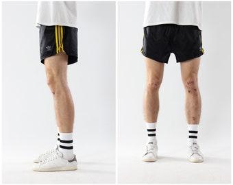 06cfb86f75a93 90's Vintage Mens ADIDAS Glanz Shiny Marathon Sprinter Running Shorts Black  Size M