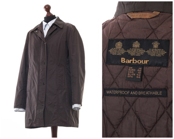 Women's BARBOUR Twill Belsay Coat Jacket Shell Bro