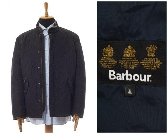 Mens BARBOUR Powel Quilted Quilt Jacket Coat Navy