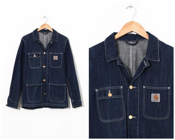 Mens CARHARTT WIP Michigan Chore Coat Jeans Denim
