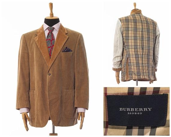 Mens BURBERRY Blazer Coat Jacket Corduroy Cotton B