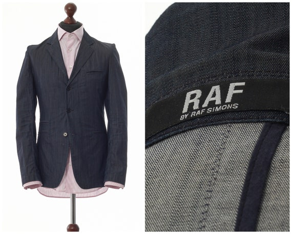 Mens RAF by RAF SIMONS Cotton Blazer Coat Jacket B