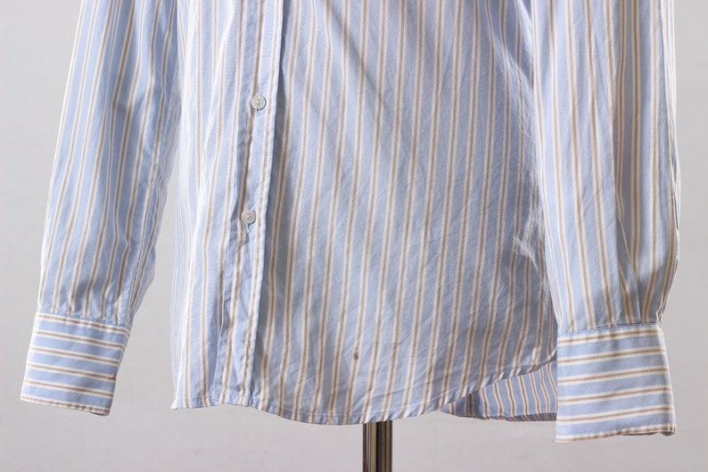 Vintage Mens DOLCE /& GABBANA Gold Stripes Long Sleeve Casual Shirt  Size S