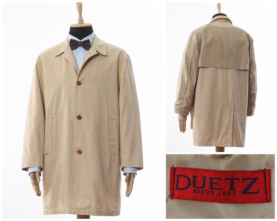 Mens DUETZ Coat Jacket Cotton Beige Size M, mens j
