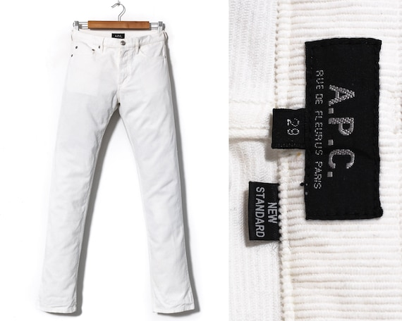 Women's A.P.C. Corduroy Pants Trousers White Size