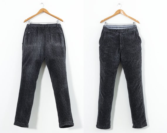 Brioni Mens Gray Corduroy Pants 28
