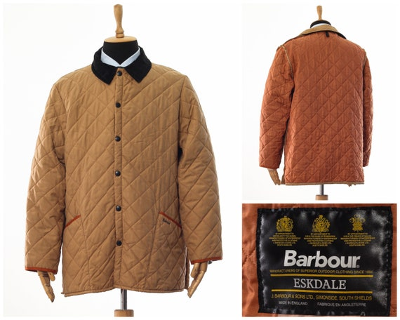 Mens BARBOUR Eskdale Quilted Quilt Coat Jacket Bei