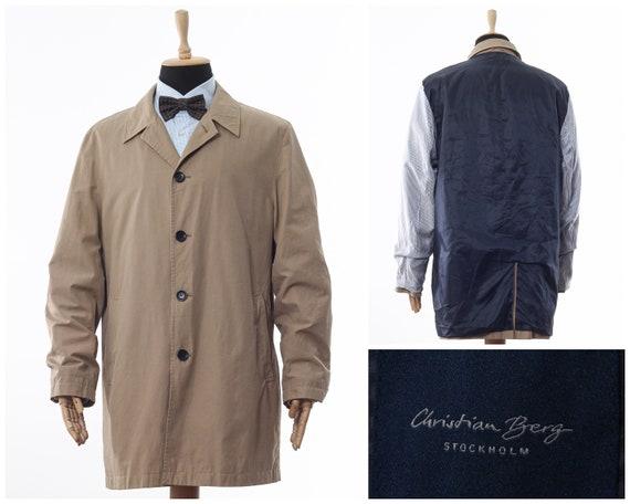 Mens CHRISTIAN BERG Coat Jacket Beige Size XL, men