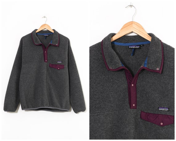 90s Vintage Mens PATAGONIA Snap-T Fleece Pullover