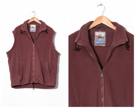 90s Vintage Mens FJALLRAVEN Fleece Vest Gilet Purp