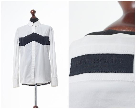 Women's BURBERRY PRORSUM Top Button Down Shirt Lon