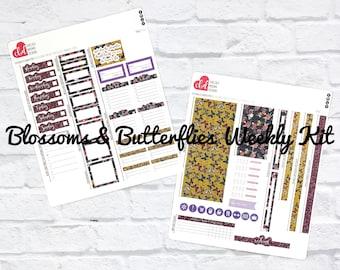 Blossoms & Butterflies Weekly Planner Sticker Kit | Passion Planner Classic | Passion Planner Compact | Passion Planner Pro Stickers