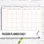 Monthly Insert for Passion Planner Daily | Two Page Month | DIGITAL DOWNLOAD | Monthly Spread | Monthly Calender