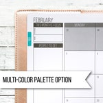 Flush Monthly Tabs | Multi-Color Palette | Passion Planner Stickers for the Classic and Compact Pro Size | Passion Planner Pro