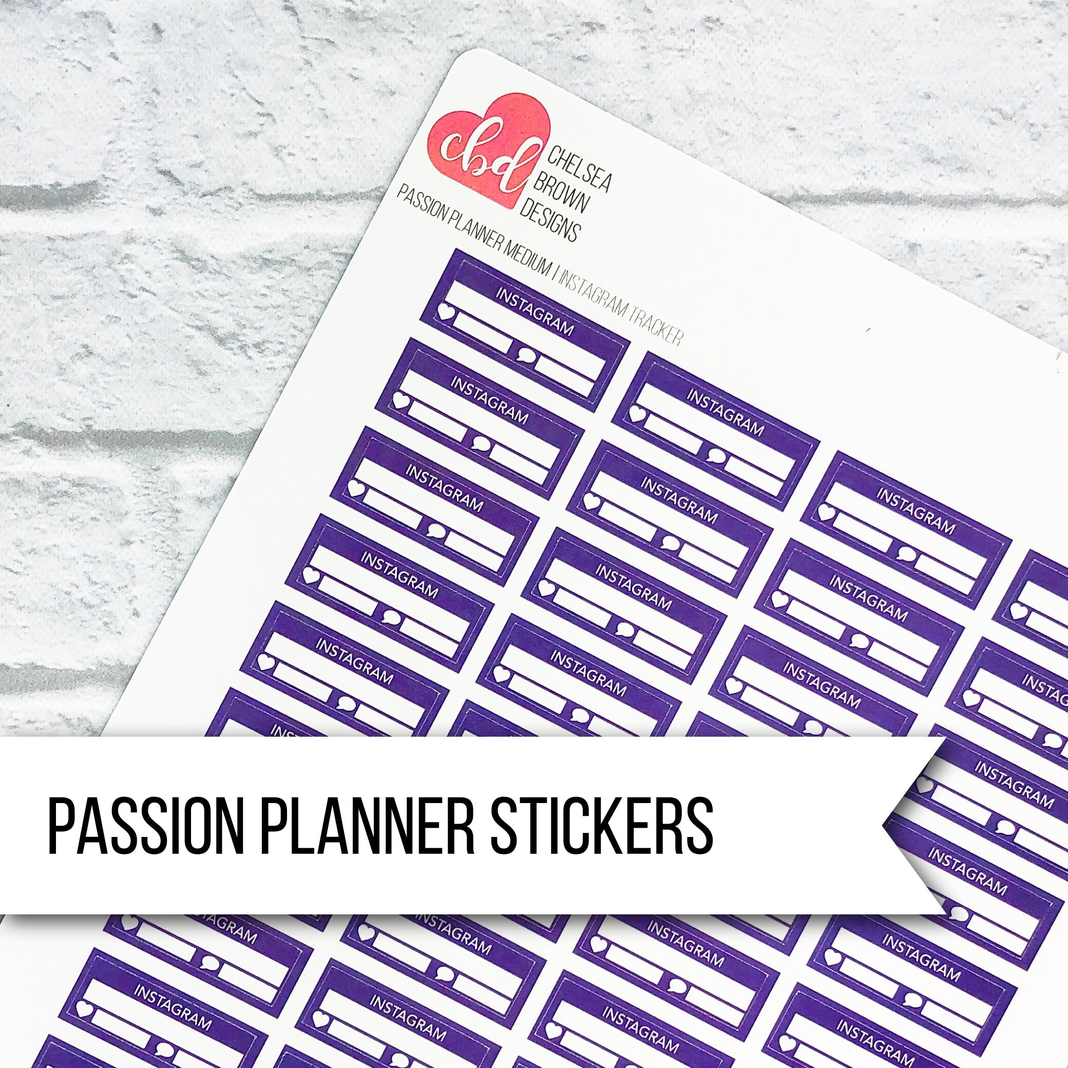 Instagram Post Tracker Single Color Option Passion Planner Stickers Large Medium Small Social Media Tracker Content Tracker Ig