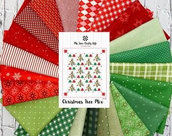Christmas Tree Mix Quilt Kit
