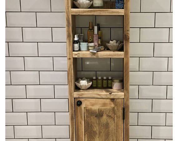 BATH   Reclaimed Timber Tall Wooden Unit