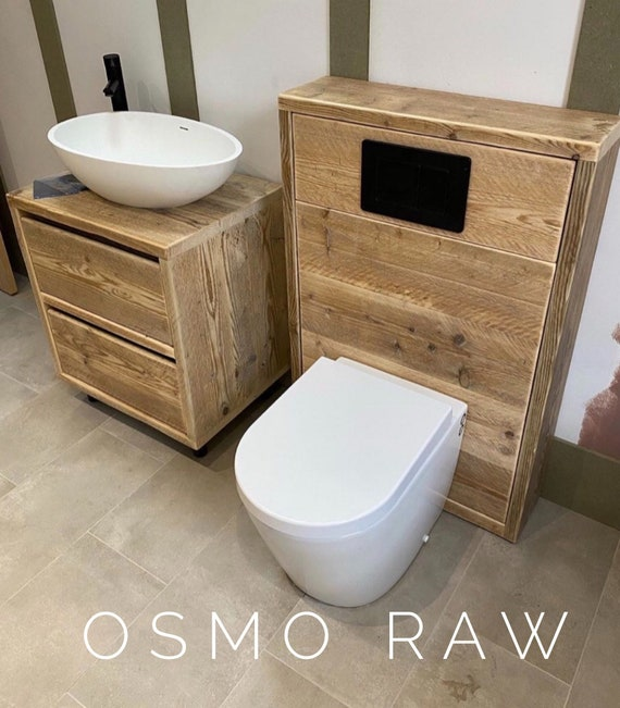 Settle - Concealed Cistern Unit | Reclaimed Bathroom Unit | Wooden Bathroom Cabinet |