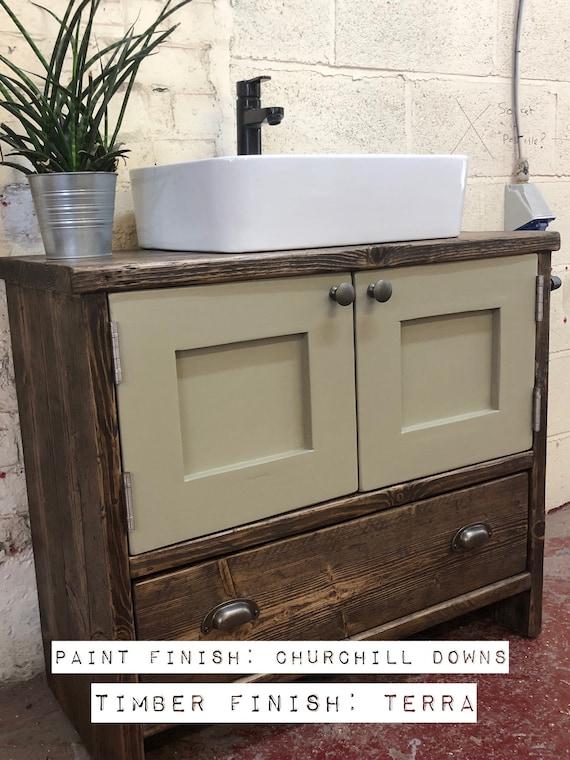 HEXHAM PAINTED-Reclaimed Wood Vanity Bathroom, Wood Bathroom Vanity Cabinet, Bathroom Vanity Rustic, Rustic Bathroom Vanity