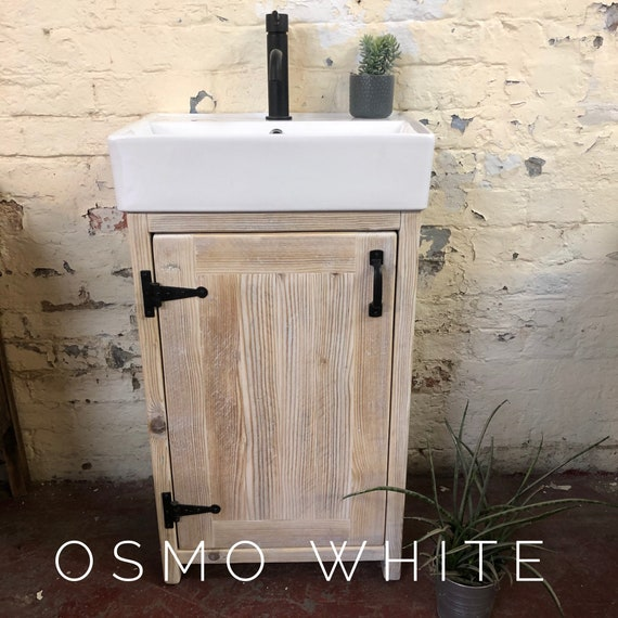 Blyth -Reclaimed Wood Vanity Includes basin | Wood Bathroom Vanity Cabinet | Bathroom Vanity Rustic |