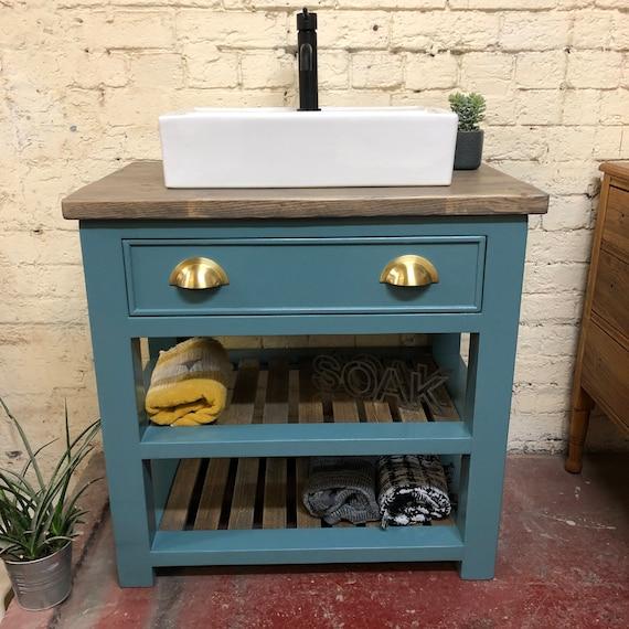 HOLCOMBE PAINTED  | Reclaimed Timber Bathroom Vanity Unit