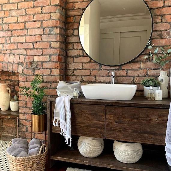 GLASGOW: Reclaimed Wooden Vanity Unit, Wood Bathroom Vanity Cabinet, Bathroom Vanity Rustic, Rustic Bathroom Vanity with drawer