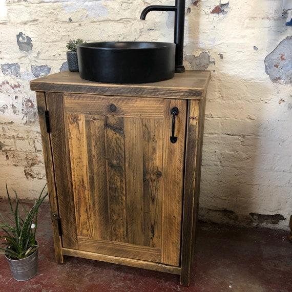 IN STOCK | Alnwick Reclaimed Timber Bathroom Vanity Unit