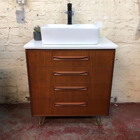 GPLAN | Fresco Bathroom Vanity Including Quartz Worktop | Hair Pin Legs |