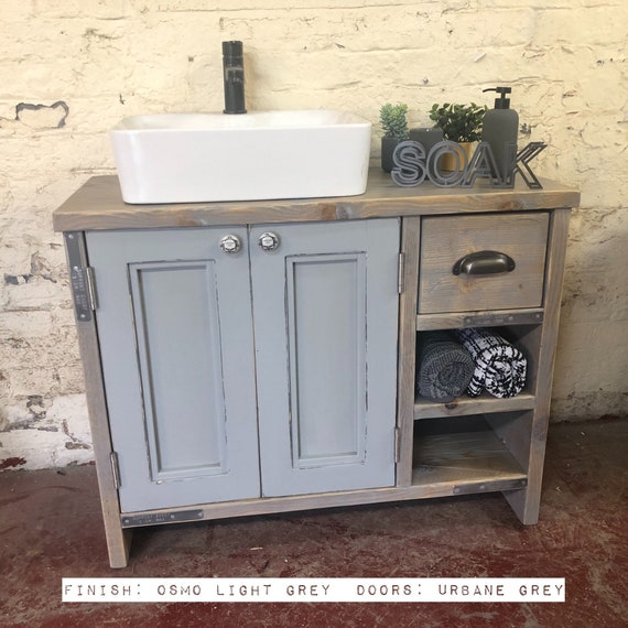 EDINBURGH PAINTED - Wooden Bathroom Cabinet, Double Vanity Unit Bathroom, Wooden Vanity Bathroom