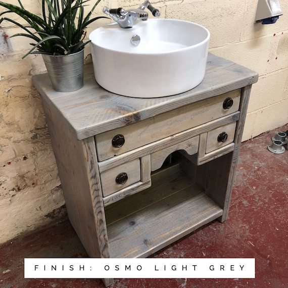 Rivington : Bathroom Vanity Cabinet | Bathroom Vanity Unit | Wooden Vanity | Bathroom Reclaimed Wood Vanity |