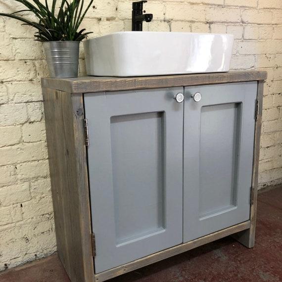 YORK PAINTED   Reclaimed Timber Bathroom Vanity Unit