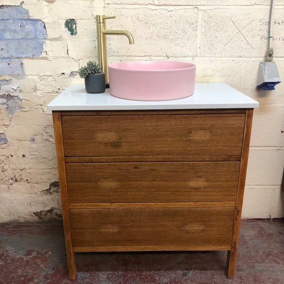 VINTAGE 57 | Oak Bathroom Vanity Incl. Quartz worktop
